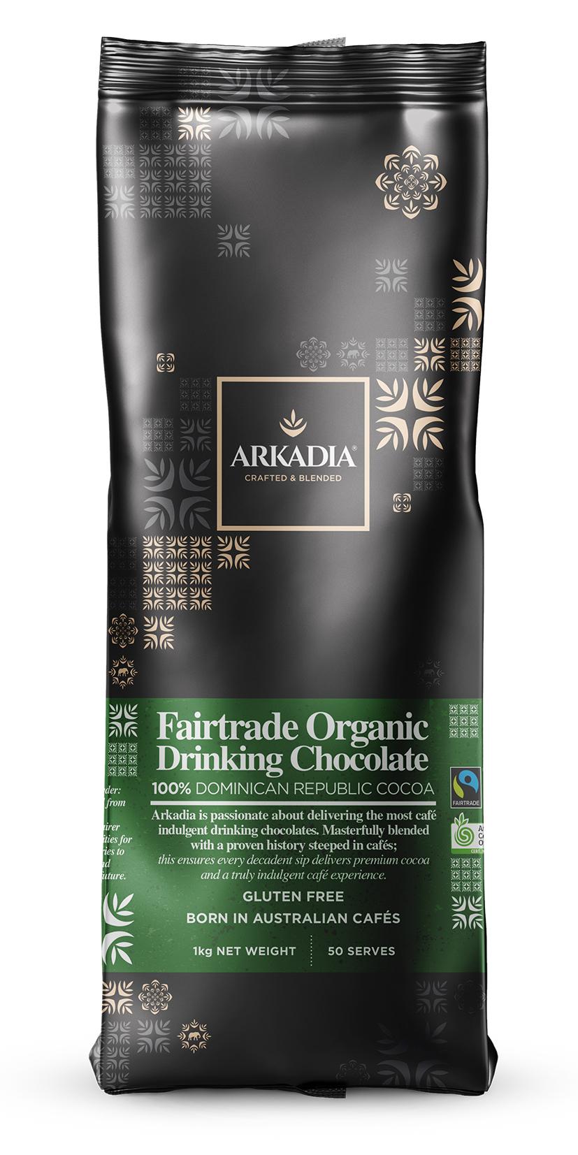 Arkadia Organic Chocolate Powder 1kg Brisbane Coffee Roaster Abrisca Roasters Of Coffee